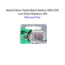 One count of Maxell 364 SR621SW SR621 28034 LR621 AG1 Battery Mercury free