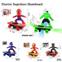 Hero Red Electric Spiderman Skateboard Kids Toy For Kids With Music and Light