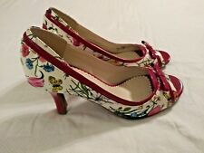 ❤❤ Women's Chinese Laundry Floral Cute Heels Size 6.5