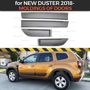 Protective Moldings on doors for Dacia / Renault New Duster 2018- plastic ABS