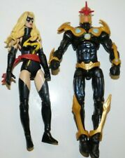 MARVEL UNIVERSE 3.75 MS MARVEL AND NOVA LOT LOOSE