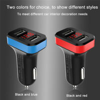 Charger Adapter LED Display Dual USB 3.1A Car Fast Charging for iPhone Samsung