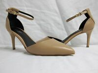 Charles By Charles David 8.5 M Lacy Tan Ankle Strap Heels New Womens Shoes NWOB