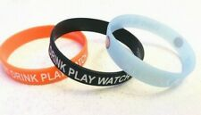 Eat Drink Play Watch Rubber Silicone Wrist Band Bracelet