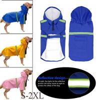 à l'eau pet manteau jacket chien imperméable les vêtements chiot imperméable