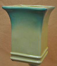Robinson Ransbottom RRP Co Large Tall Yellow Green Flare Top Vase Roseville Ohio