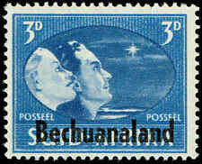 Scott # 139B - 1945 - ' Profiles of Couple (Hope) '; Pair, Ovptd., Single, Afrik
