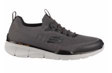NEW Sketchers Mens Slip-on Tennis Shoes Grey Athletic Sneakers w/ Memory Foam