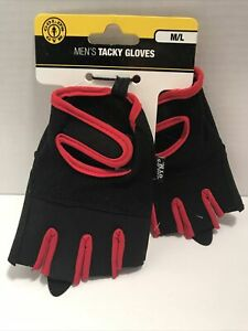 GOLDS GYM Men's Tacky Gloves Ventilated Mesh Weight Lifting Size M/L NEW