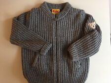 Steiff Strick Kaschmir Woll Pullover Pulli Cardigan Jacke Gr 98 cm /3 Jahre Grau