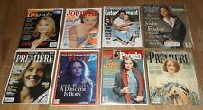 JODIE FOSTER magazine lot of 8 People Premiere Rolling Stone Biography Time