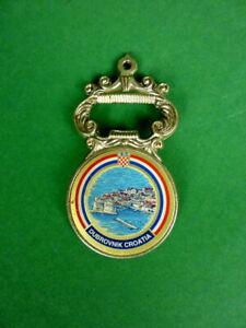 alter Flaschenöffner Dubrovnik Kroatien Metall 9 cm Vintage Sammlerstück