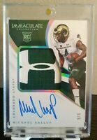 2018 Immaculate Michael Gallup Under Armor Logo Patch Auto #/5 🔥 Dallas Cowboys