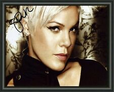 PINK - A4 SIGNED AUTOGRAPHED PHOTO POSTER  FREE POST