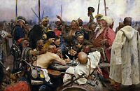 Reply of the Zaporozhian Cossacks. Giclee History Repro choose Canvas or Paper