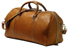 Floto Imports Luggage Parma Travel Duffel Bag, Italian Calfskin Leather, Brown