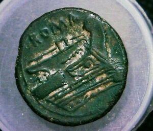 "Roman Republic Coin ""Mercury Portrait & Prow"" Semuncia, 5.4 grams, AE20mm"