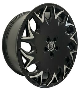 4 Wheels GV06 20 inch Gloss Black Rims fits LEXUS ES 300H 2013 - 2018