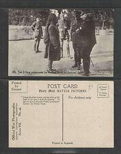 1910s SIR D HAIG INTRODUCE SIR PERTAB TO GENERAL JOFFRE WW I ENGLAND UK POSTCARD