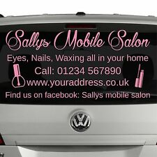 BEAUTY THERAPIST - Mobile therapist or salon car window sticker advert - S18