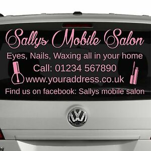 Vehicle Window Sticker For Beauty Therapist Or Mobile Hairdresser Decal [S18]