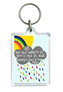 """Quote Keyring """"Life isn't about..."""" motivational determination Gifts"""