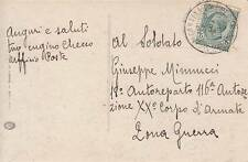 A7581) WW1 OCCUPAZIONI, ANNULLO CORTINA D'AMPEZZO POSTE ITALIANE SU 5 c. LEONI.