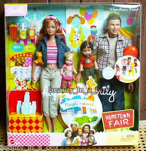 "Happy Family Neighborhood Hometown Fair Gift Set Barbie Doll Midge Alan Nikki """