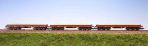 Schirmer 20332 / TT / 3-er Set 6-achs. Niederbordwagen Samm DR Ep.IV mit Ladegut