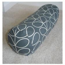 "18""x8"" Round Bolster Lumbar Cushion Cover Orla Kiely Linear Stem Cool Grey"