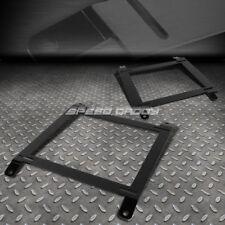 FOR 89-97 MIATA MX-5 2X LOW MOUNT RACING BUCKET SEAT BASE TENSILE STEEL BRACKET
