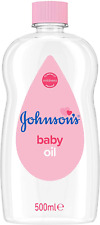 JOHNSONS Baby Oil 500 ml Leaves Skin Soft Smooth Ideal Delicate Moisturises NEW
