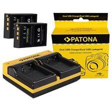 2x Patona Akku BLS-5 1100mAh + Dual Doubles 2 fach Ladegerät für Olympus BLS-50