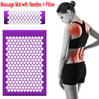 Acupressure Massage Massager Cushion Mats with Pillow Relieve Back Pain