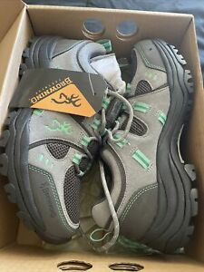 Browning Womens Buck Pursuit Trail Shoe Frost Gray/Ming 8.5