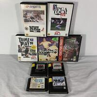 Sega Genesis Authentic Game Lot of 9 Sports Games | NFL USA Basketball NHL PGA +
