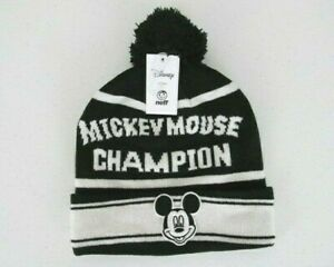 Disney Collection by Neff Mickey Mouse Classic One Size Comfort Pom Cuff Beanie