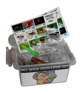 Bug Hunting/Mini Beast Study Set Includes  10 Bug pots + 10 Eye Glass & Sheets
