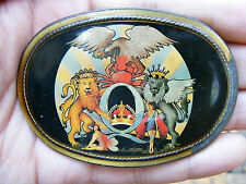 Vtg QUEEN Belt Buckle ROCK BAND Pacifica 1977 Music RACES Album ART RARE VG++