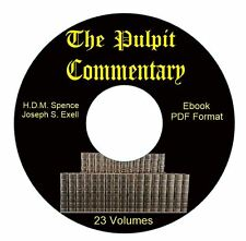 Pulpit Commentary-ALL VOLUMES-Spence-Exell-eBook CD PDF-iPod iPhone Compatible