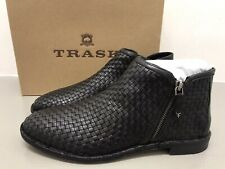 TRASK Ladies Amy black sheepskin ankle boots size 11/euro 43/UK9