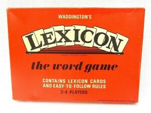 Lexicon Card Game Complete 52 Card Set Word Building Game Waddingtons