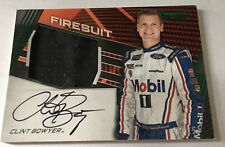 2017 CLINT BOWYER GREEN PANIN TORQUE RACE USED FIRESUIT AUTOGRAPH 8/15