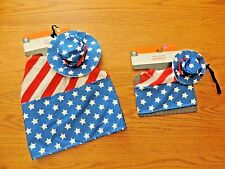 Patriot Holiday Pet COSTUME Dress up SIZE Medium RED WHITE BLUE Uncle Sam  NWT