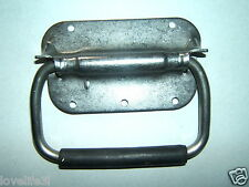 STAINLESS STEEL CASE AMP SPEAKER HEAVY DUTY SPRUNG FLIP HANDLE OFFSHORE 130x70mm