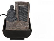 Tischbrunnen Brunnen Buddha mit Wasserfall Tischdeko Zimmerbrunnen Dekobrunnen