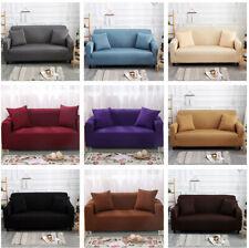 Чистый цвет стрейч эластичные ткани диван секционный угловой диван чехол 1-4 местный