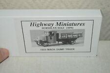 RARE MAQUETTE JORDAN HIGHWAY MINIATURES CAMION 1923 MACK DUMP TRUCK NEUF HO 1/87