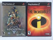 Sony PlayStation 2 Ps2 Disney Lot: The Incredibles & Kingdom Hearts
