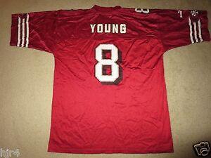 Steve Young #8 San Francisco 49ers NFL Super Bowl Season Football Jersey LG L